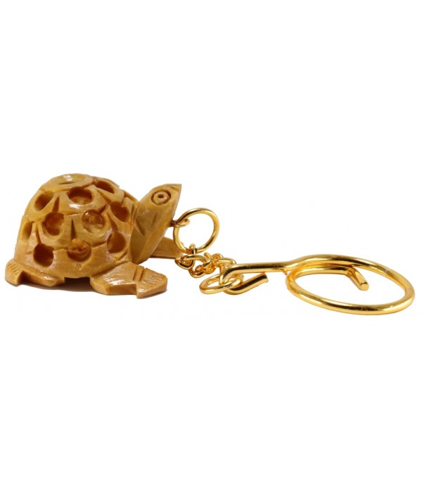 Wooden Turtle key chain (L 3.50 CM X H 2...