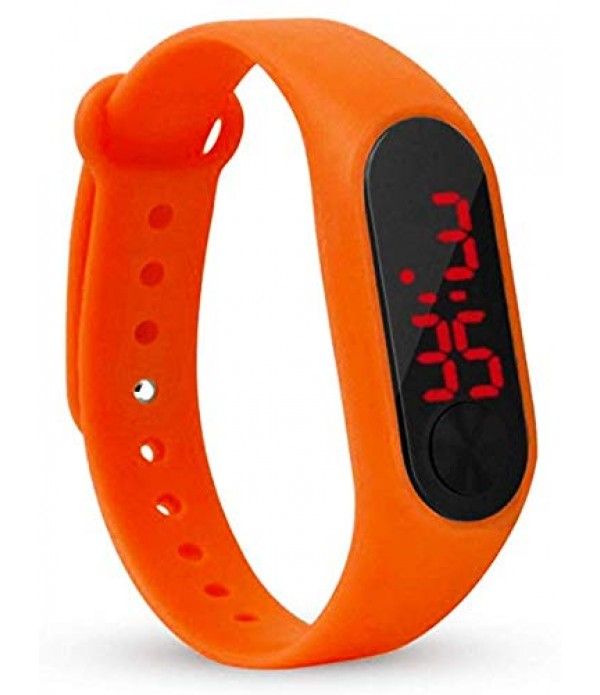 New Digital Orange Colour Watch 2019