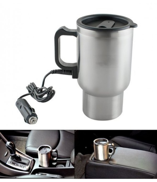 Car Charging Electric Kettle Stainless S...