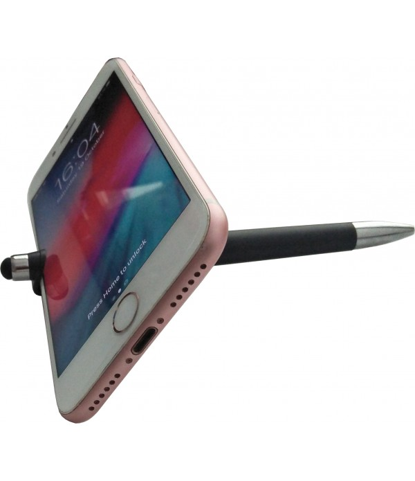 Klowage 3 in 1 Smartphone Stand Holder, Screen Wipe and Ballpoint Pen Mobile Phone Holder for All Smartphones Ball Pen