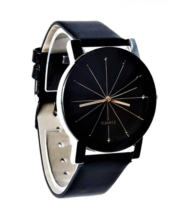 Quartz Analogue Full Black Dial Professi...