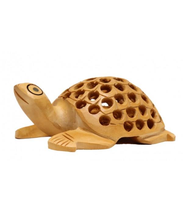 wooden turtle ( L 8.00 CM X H 3.00 CM )