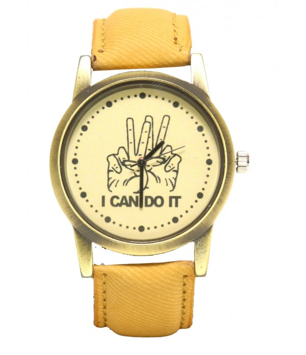 GET The Look Analogue Brown Dial Men's &...