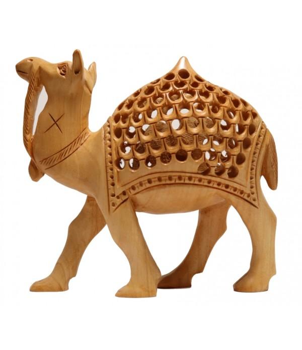 WOODEN BIG CAMEL SHOWPIECE (L 15.00 CM X...