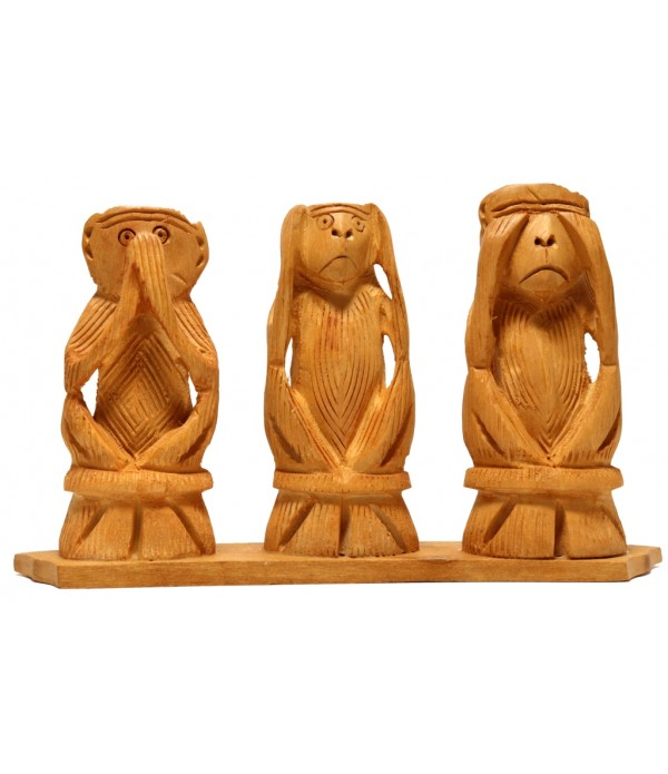 Gandhiji three monkey set ( L 14.5 CM X ...