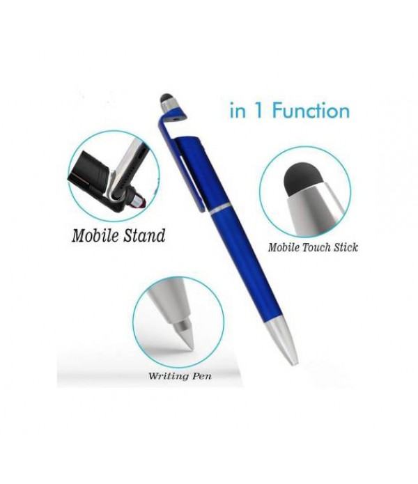 Klowage Smartphone Stand Holder, Screen Wipe and Ballpoint Pen Multi-function Pen