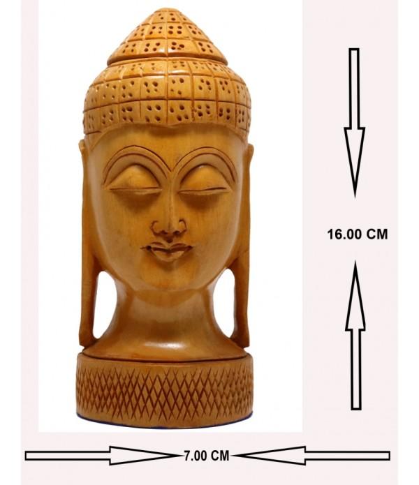 Wooden Lard Buddha ( H 16.00 CM X L 7.00 CM )