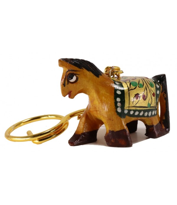 Wooden Horse Key Chain With Painting ( H...