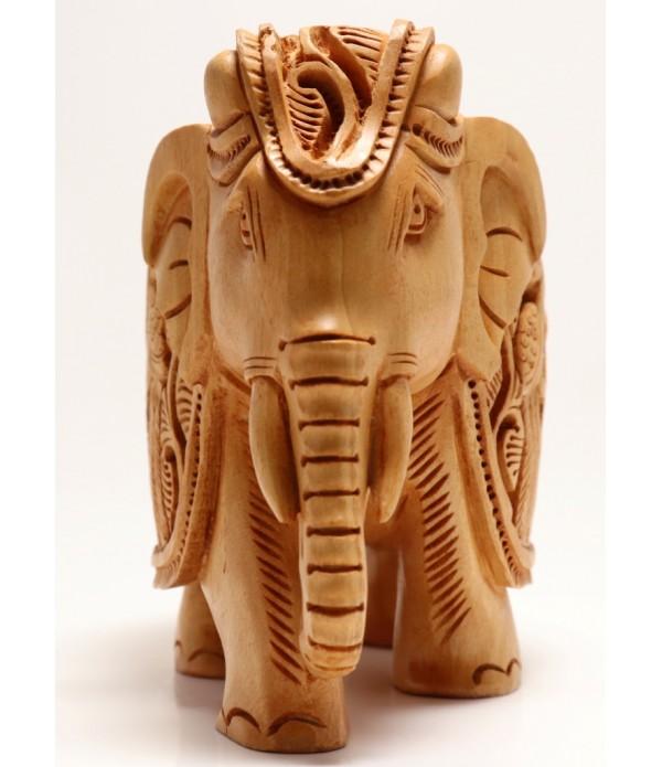 WOODEN ELEPHANT ( L 13.00 CM X H 10.50 CM )