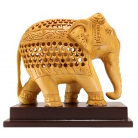 WOODEN BIG ELEPHANT ( L 16.5 CM X H 15 CM )
