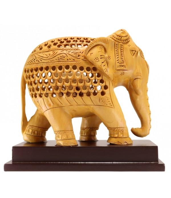 WOODEN BIG ELEPHANT ( L 16.5 CM X H 15 C...