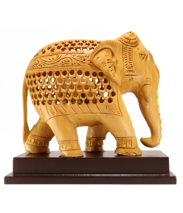 WOODEN BIG ELEPHANT ( L 16.5 CM X H 15 CM )