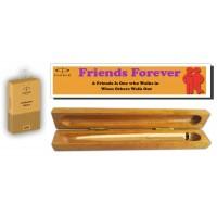 Parker Vector Gold Ball Pen with Best Friends Wooden Gift Box