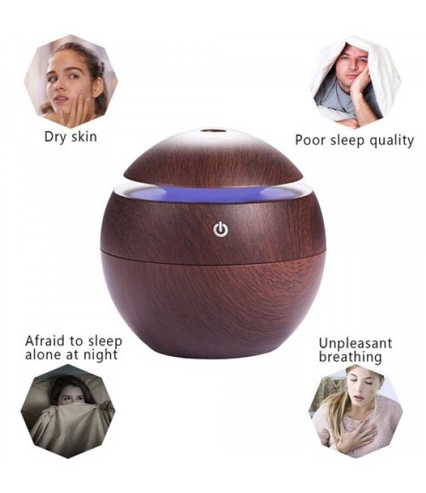Mini Portable Wood Aromatherapy Humidifi...