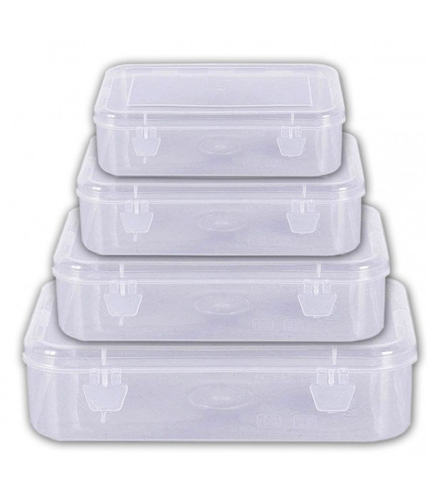 Plastic Boxes For mix  Storage Set Of 4 ...