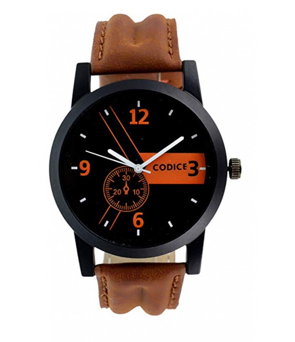 Men's Metal Analogue Quartz Brown and Bl...