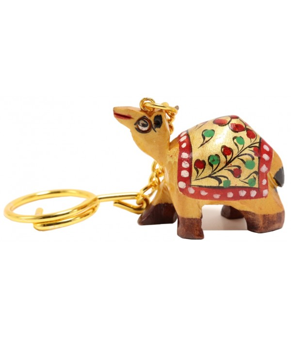 Wooden Camel Key Chain With Painting ( L...