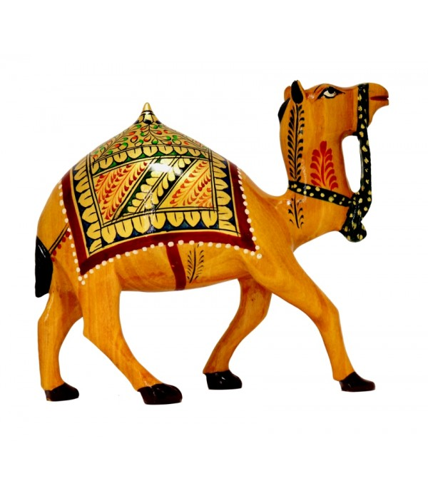 WOODEN BIG CAMEL SHOWPIECE (L 14.50 CM X H 12.00 CM )