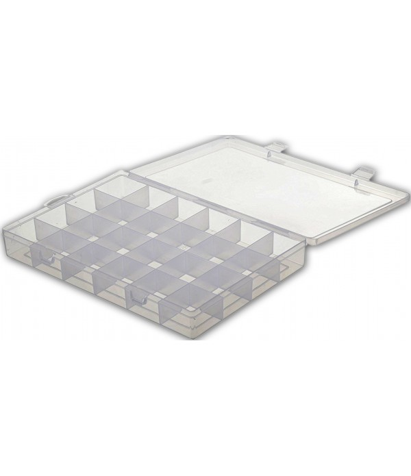 24 Grids Clear Plastic Storage Box with ...