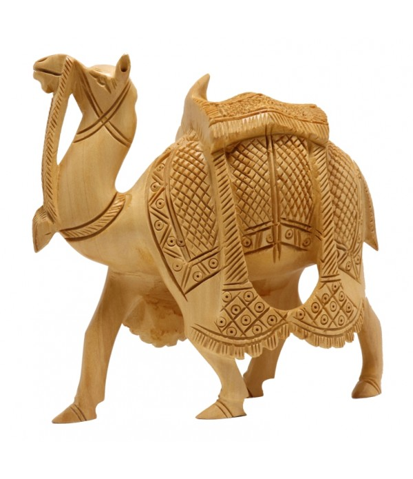 WOODEN BIG CAMEL SHOWPIECE (L 14.50 CM X...