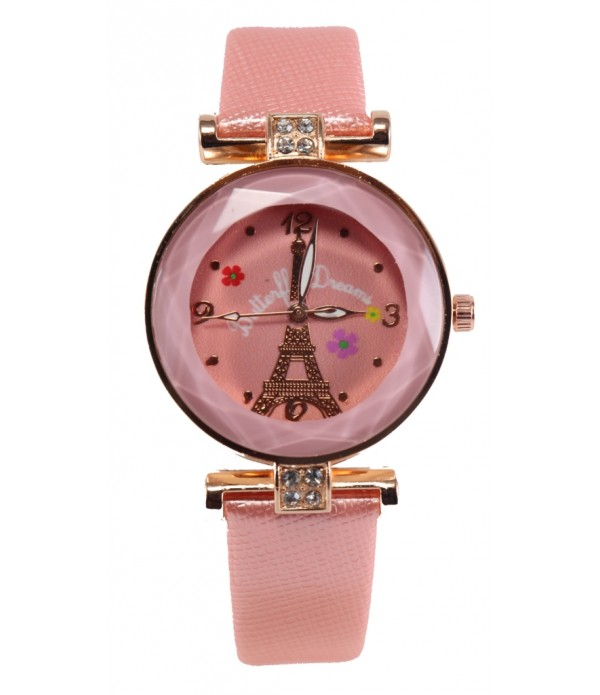 Analogue Dial Leather Belt Girl's Watch