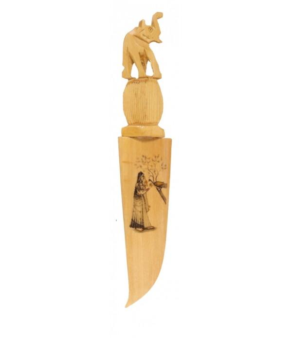 Wooden Letter Opener Paper Cutter (Knife...