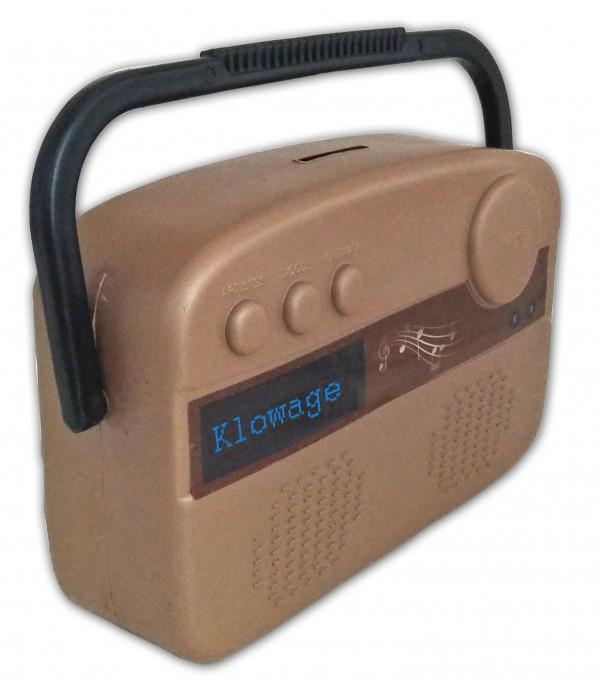 FM Radio Piggy Bank Four Grid Plastic Co...