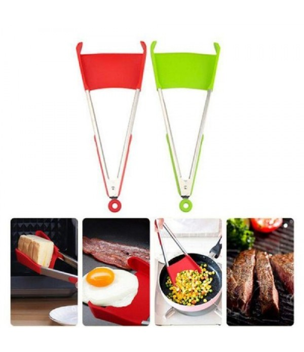 2 in 1 Clever Tongs Non Stick Heat Resis...