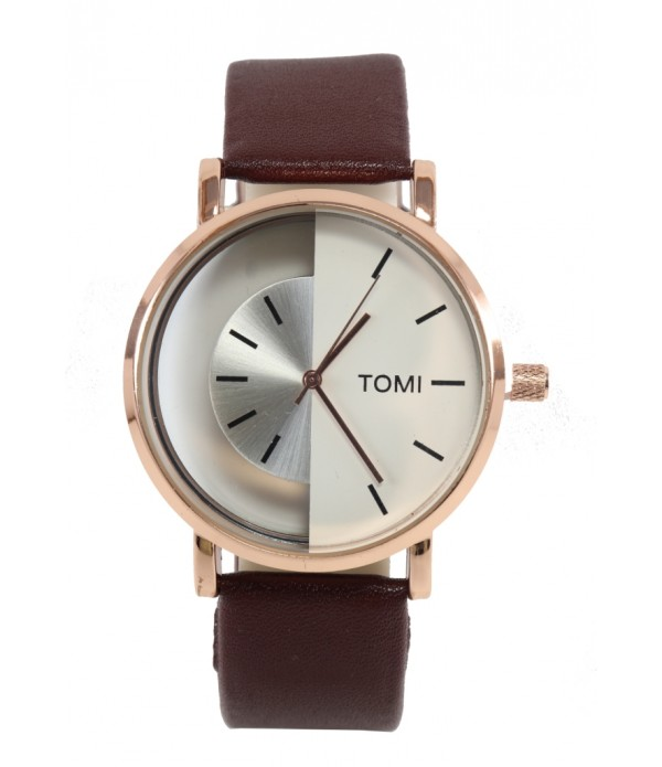 Tomi Transparent Multicolor Dial Analog ...