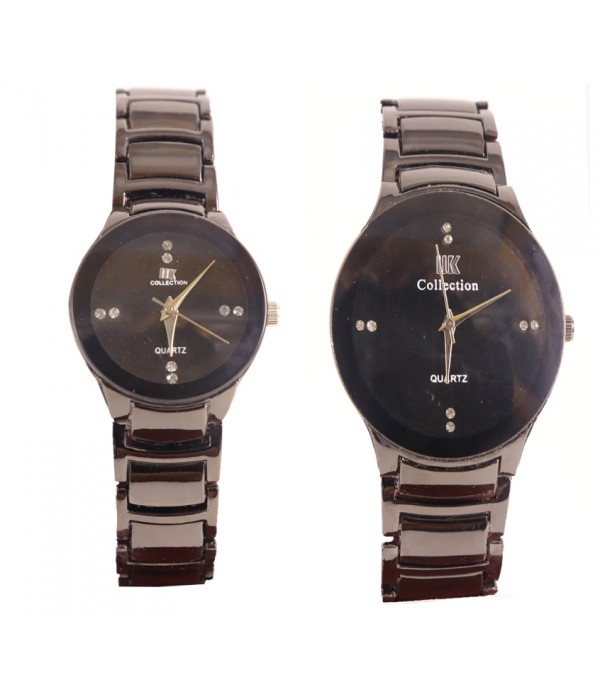 Black Chain Strap Couple Watch