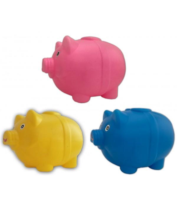 3 Pics Piggy Bank Four Grid Plastic Coin...