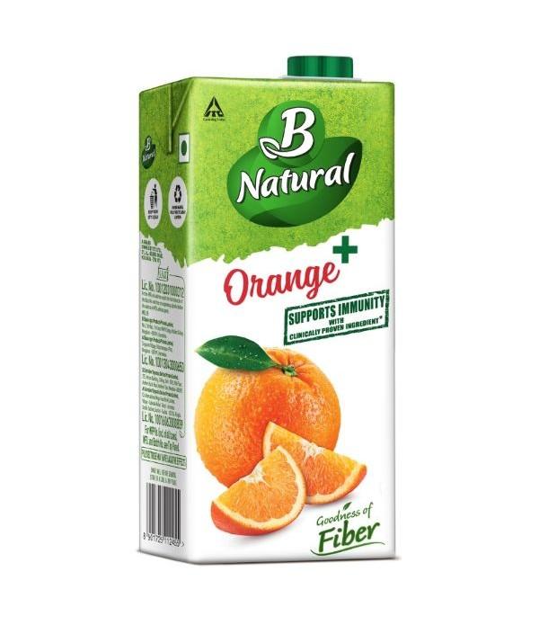 B Natural Orange+ 1 ltr Pack