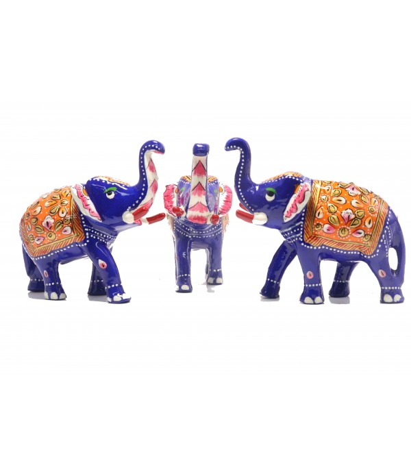 MARBEL ELEPHANT  WITH PAINTING ( L 10.00...