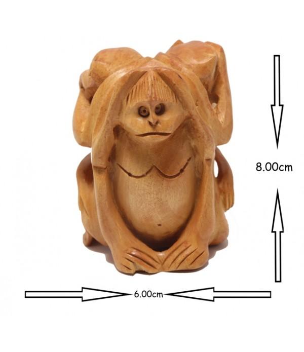 Gandhiji three monkey set ( L 6.00 CM X H 8.00 CM )