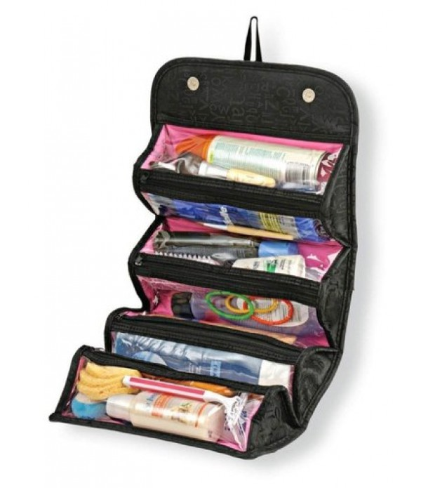 Roll n Go Travel Cosmetic Make Up Jewelr...